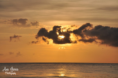 The sun is setting in the clouds, Captiva Island, FL