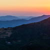 11/08/2013 – 20:30 Sunset over the Liguria Apennine Mountains - From Sestri Levante interland, Italian Riviera