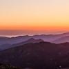 11/08/2013 – 20:23 Sunset over Portofino and the Liguria Apennine Mountains - From Sestri Levante interland, Italian Riviera