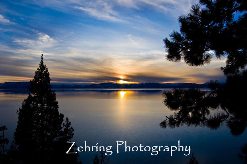 Sunset Lake Tahoe CA