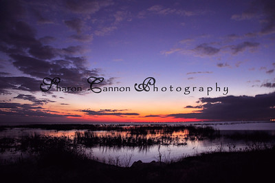 Sunset over Lake Okeechobee, Nubbin Slough. January 2011