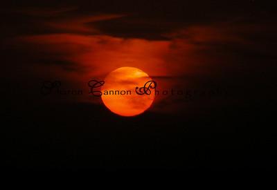 Sunset over Lake Okeechobee, Nubbin Slough.... October 2004