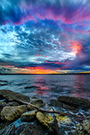 """Ring of Fire at Sunset""  Royal National Park, near Sydney Australia"
