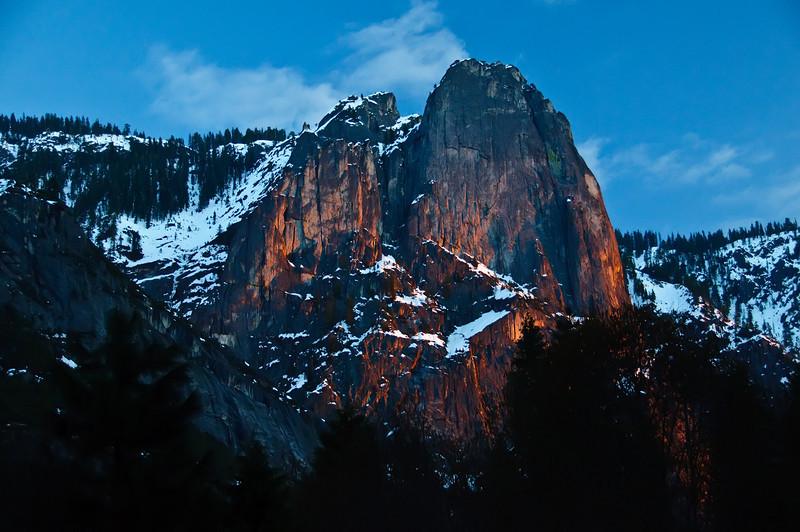 Sentinel Rock at Sunset - Yosemite National Park.