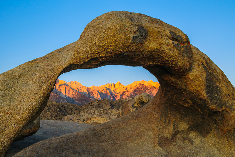 """Galen's Arch at the Alabama Hills"" Eastern Sierra, Northern California"