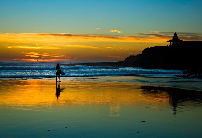 """The """"Lone Surfer at Natural Bridges"""" Santa Cruz, California"""