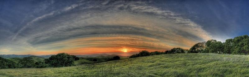 Helen Putnam Park Sunset Pano