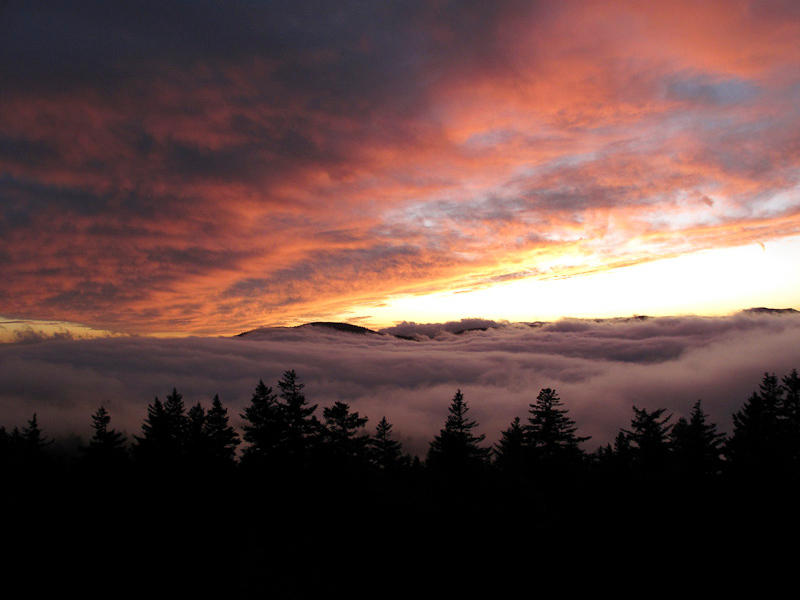 Sunset from Mt. Sterling, NC