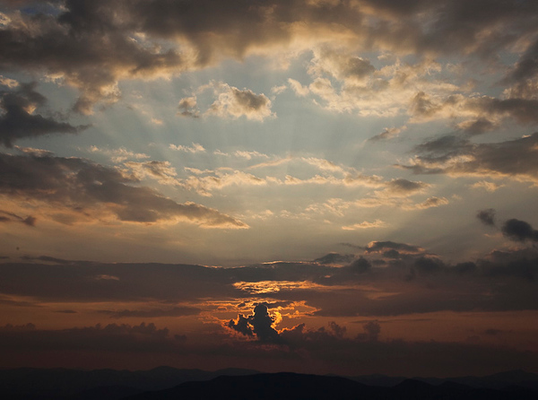 Sunset viewed from Mt. Yonah, GA