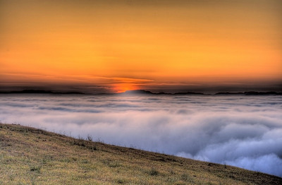 After Sunset, Above the Fog