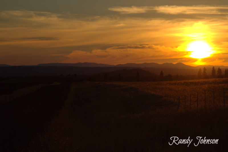 Sunsets in Goldendale Washington