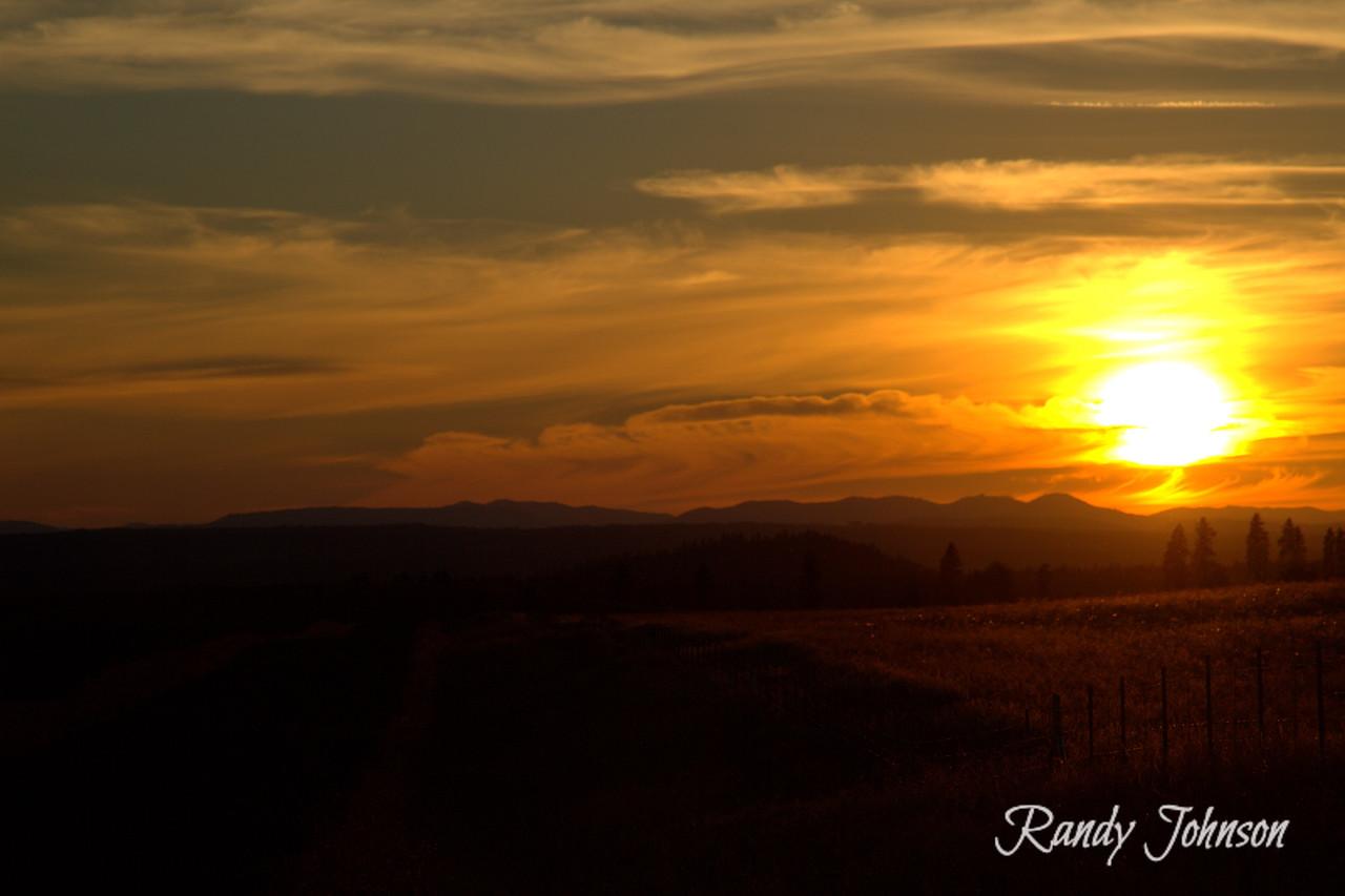 Sunsets in Goldendale Washington