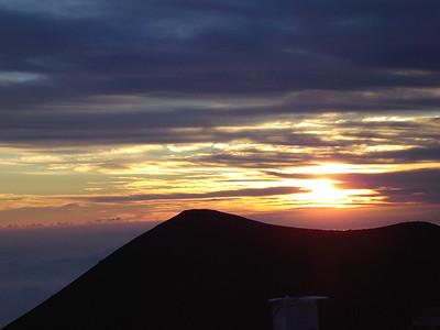 Sunset at the Mauna Kea Observatory