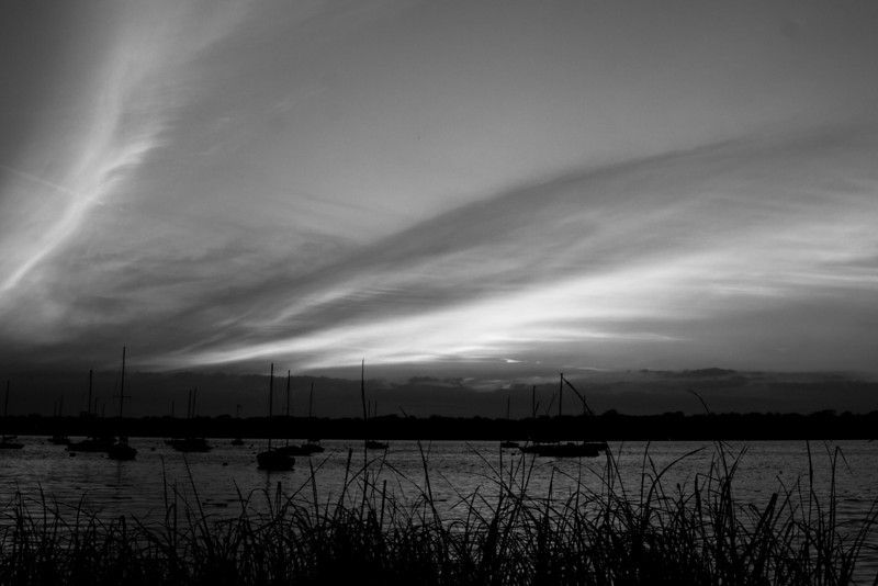 White Rock Sailboats Sunset Black and White 2