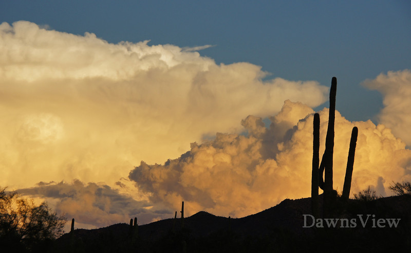 August 23 2012, clouds over the Catalina Mt at sunset, Tucson AZ
