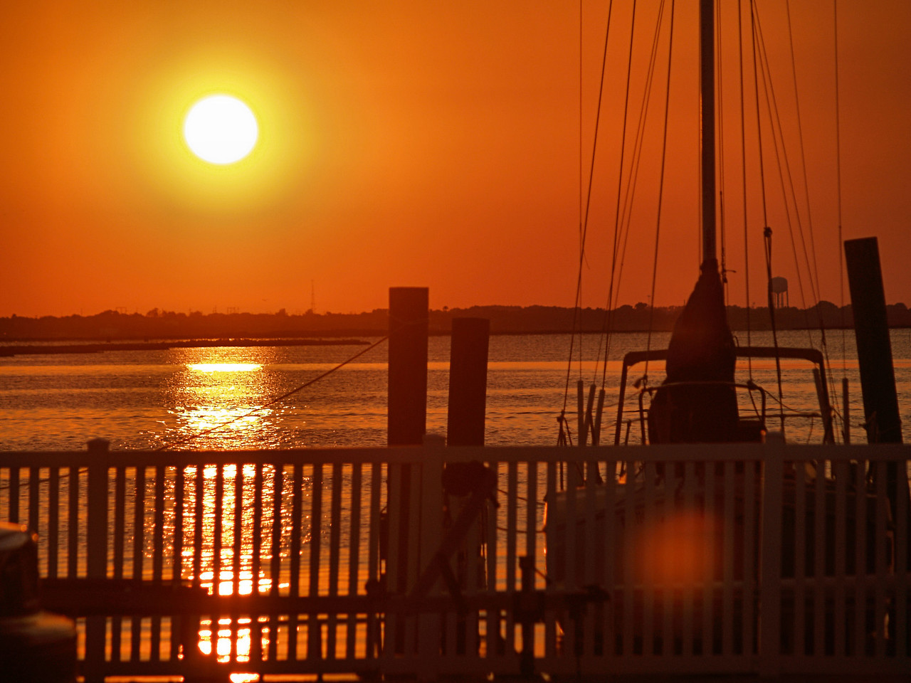 OLYMPUS DIGITAL CAMERA--The sun sets over Laguna Madre.
