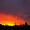 Sunset on January 12, 2012, Tucson AZ