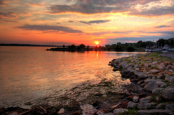 Onondaga lake sunset
