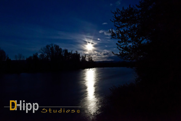 """Full Moon Over The Bitterroot River"""