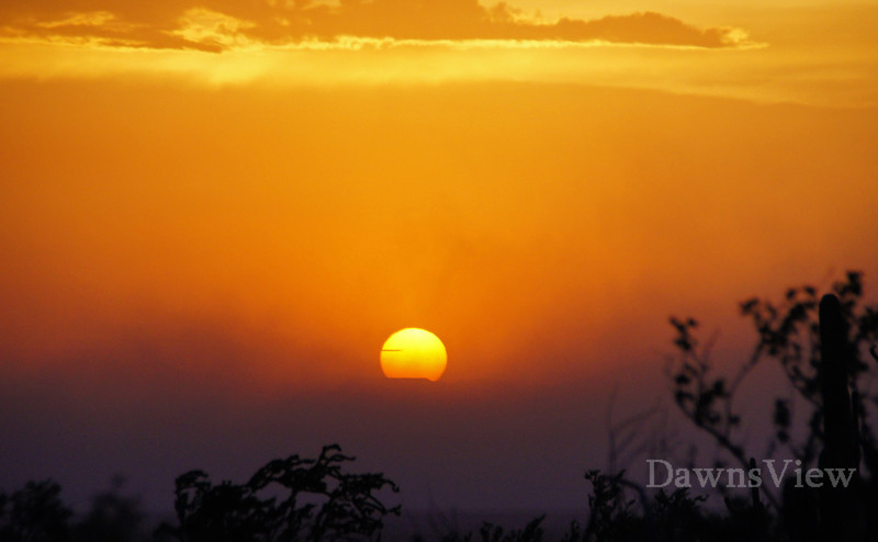 Sunset during dust storm in Jul7 20121 in Tucson AZ