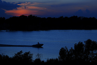 Sunset in Kansas; Marion County Park and Lake