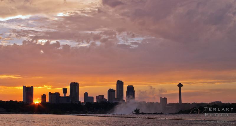 Niagara Falls sunset