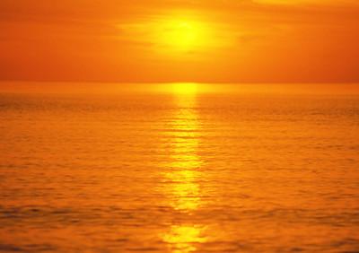 Orange Sunset I