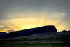 Buffalo Jump Sunset near Elmo on Flathead Lake