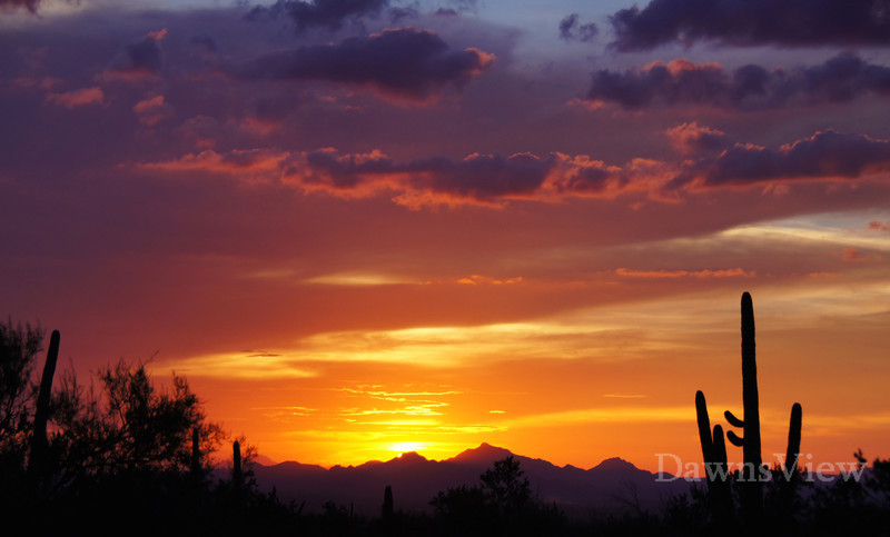 Sunset on Sept 5, 2012, Tucson, AZ