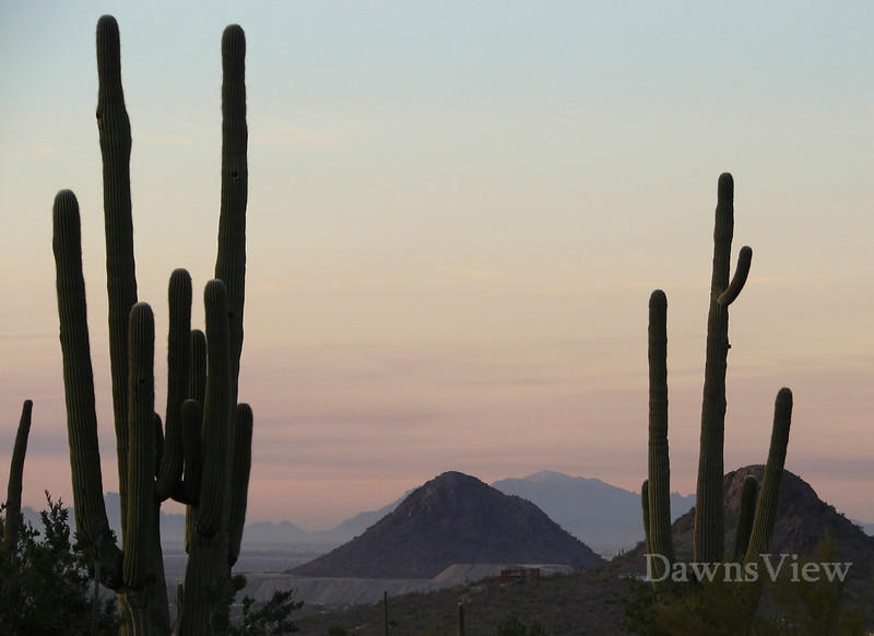 smoke from a distant fire created this sky in Dec 2010, tucson, AZ