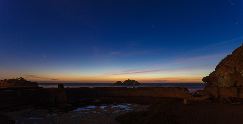 Sutro Baths at sunset