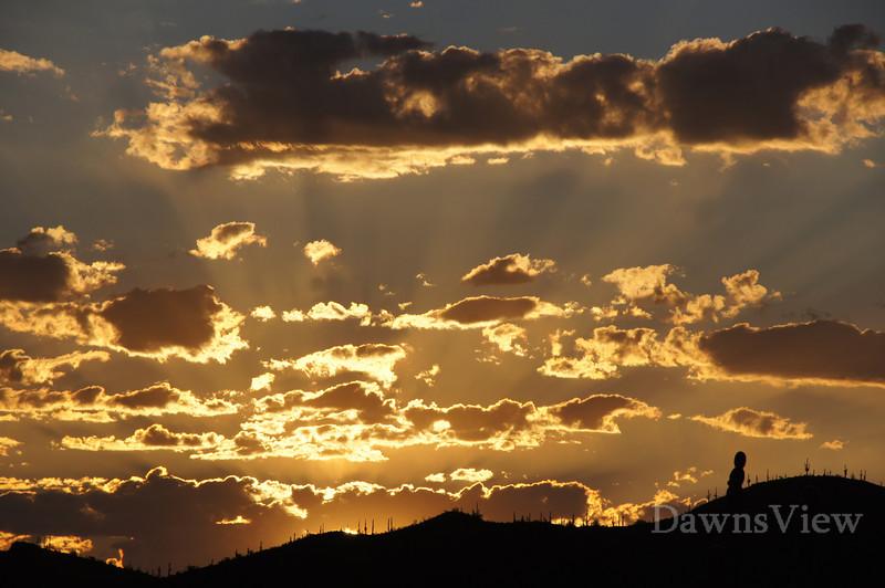 Sunrise over the Tucson Desert.  September, 2011
