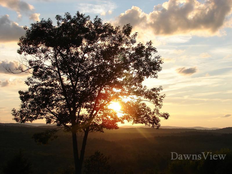 sunset after a storm, Francestown, NH, Aug 2008