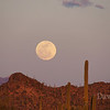 Full moon rising over the Tucson Desert, Feb 17, 2011