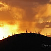 Sunrise over the Tucson Mountain Range.  March 2009