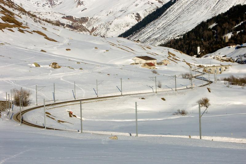 Urserental between Realp and Hospental - Matterhorn-Gotthard-Bahn track<br /> Konica Minolta Dimage A2