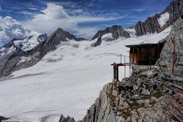 Studer Glacier, view from Oberaarjoch Hut 3256m