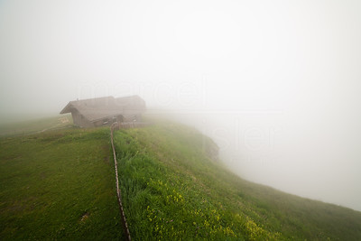 Hut in the clouds