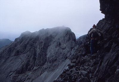 On Collies Ledge, looking towards Sgurr Dearg and the Inn Pinn