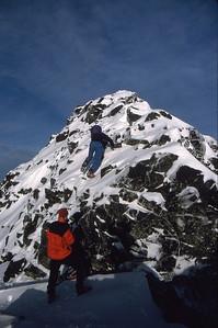 Nearing the summit of Sgurr a Mhadaidh