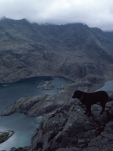 """Kelly"" on Sgurr na Stri, overlooking Loch Scavaig"