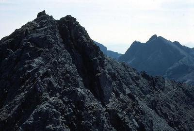 Between the twin summits of Sgurr Ghreadaidh, looking south