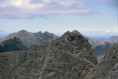 Sgurr Mhic Coinnich, with Collies Ledge prominent, from Sgurr Sgumain
