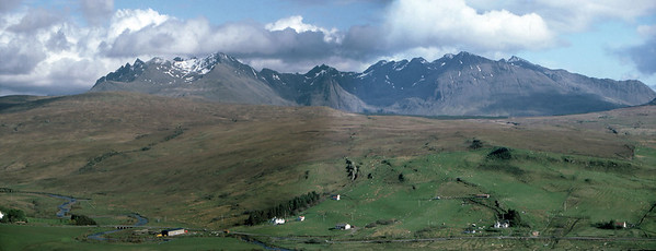 A composite panorama of the Northern Cuillin from above Glen Drynoch
