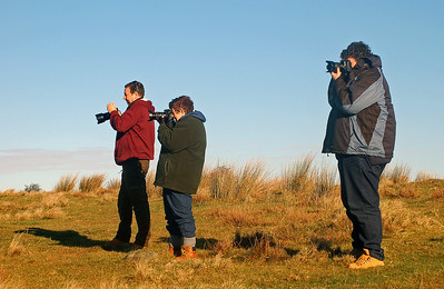 The temperature inversion attracted many photographers to the ridge above the Longshaw Estate!