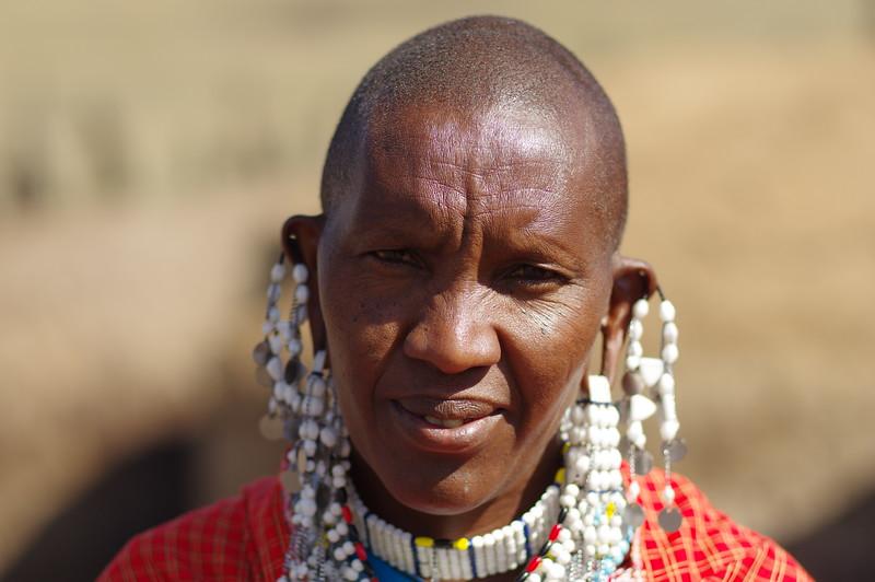 Mrs. Massai at Ngorongoro