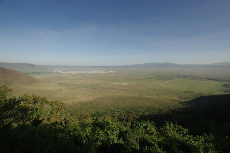 Panoramic view to Ngorongoro Crater