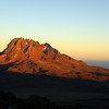 Mawenzi (5148m) at sunset as seen from Kibo Hut
