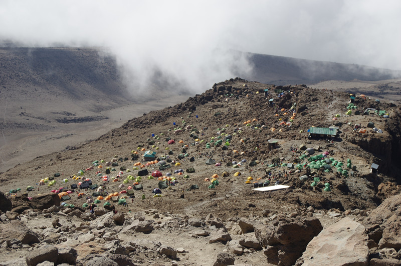 Barafu Camp on January 1. 40000 people were trying to conquer the summit that day...