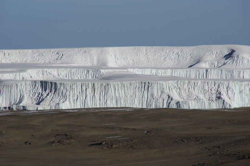The Northern Icefields of Mount Kilimanjaro